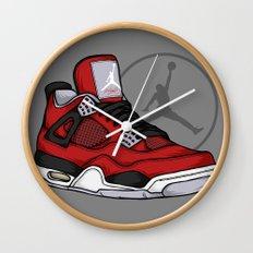 Jordan 4 (Toro Bravo) Wall Clock
