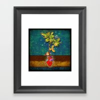 Even Though I Buried My … Framed Art Print