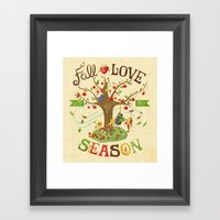 Fall in Love with the Season Framed Art Print