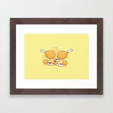 Chicken nuggets Framed Art Print