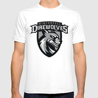 Direwolves Mens Fitted Tee White SMALL