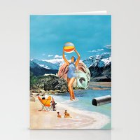 Poseidon in Love Stationery Cards