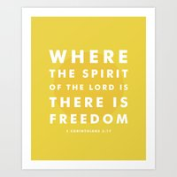There Is Freedom Art Print