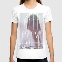 Wander (Keep Calm) Womens Fitted Tee White SMALL