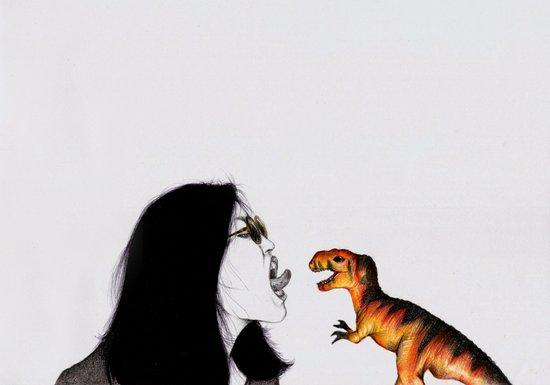 Uglysaurus IV Art Print