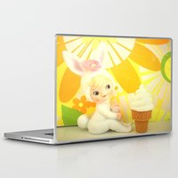 bunny Laptop & iPad Skins featuring Bunny  by Vintage  Cuteness