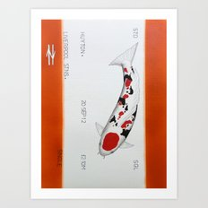 One way Koi  Huyton to Liverpool Art Print