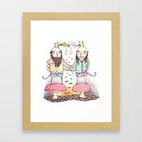 Monsters in Love Framed Art Print