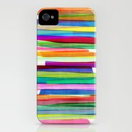 Colorful Stripes 1 iPhone (4, 4s) Slim Case