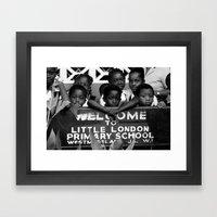 Little London In Jamaica Framed Art Print