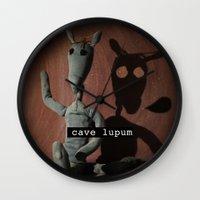 Cave Lupum II Wall Clock