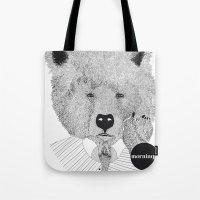 Morning bear Tote Bag