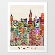New York City Skyline Art Print