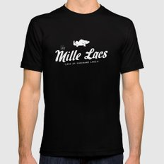 LAKE MILLE LACS SMALL Mens Fitted Tee Black