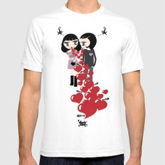 Lady & Lord Valentine's SMALL White Mens Fitted Tee
