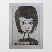 Canvas Print featuring Doll Face 2 by Tara Bateman