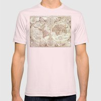 An Accurate Map Mens Fitted Tee Light Pink SMALL