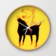 Yellow Rider Wall Clock
