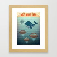 wise whale says Framed Art Print