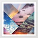 Sky Collage Art Print