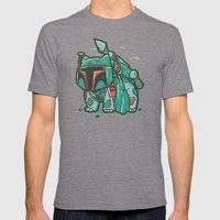 BulbaFett Mens Fitted Tee Tri-Grey SMALL
