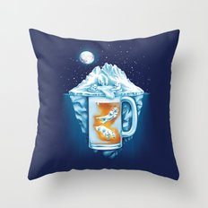 The Polar Beer Club Throw Pillow