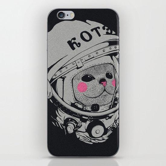 Spaceman cat iPhone & iPod Skin