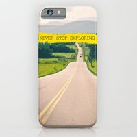 iPhone Cases featuring Never stop exploring by Ale Ibanez