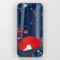 Little Fox Sleeps In The… iPhone & iPod Skin
