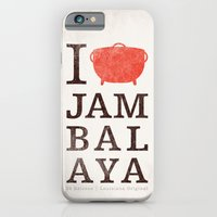 iPhone & iPod Case featuring I Heart Jambalaya by Krist Norsworthy