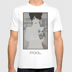 pool Mens Fitted Tee SMALL White