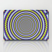 Toothed Rings In Blue An… iPad Case