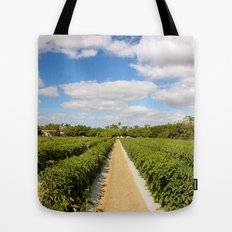 Tomato Fields  Tote Bag