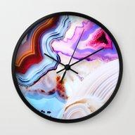Agate, A Vivid Metamorph… Wall Clock