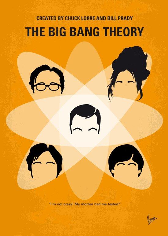 No196 My The Big Bang Theory minimal poster Canvas Print