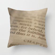 Conclusion Throw Pillow