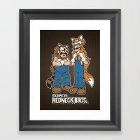 Super Redneck Bros. Framed Art Print