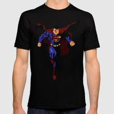 Super Hero Black SMALL Mens Fitted Tee