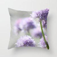 I dreamt of fragrant gardens Throw Pillow