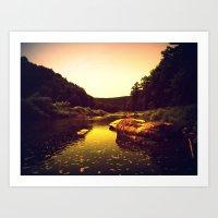Let The Creek Take You A… Art Print