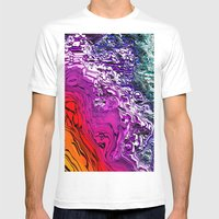 Purple Mountain Majesty Mens Fitted Tee White SMALL