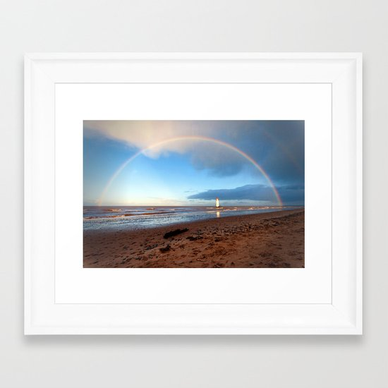 The rainbow Framed Art Print