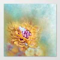 VARIE SQUARE - Floral An… Canvas Print