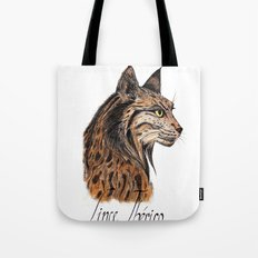 Iberian Lynx Profile Tote Bag