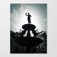 Heavenly Fountain Canvas Print