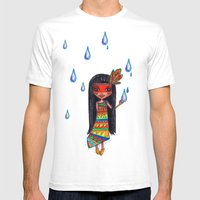 A Menina Que Chovia Mens Fitted Tee White SMALL