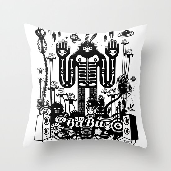 Big Babu Throw Pillow