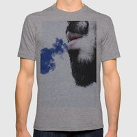 Sir blue smoke Mens Fitted Tee Athletic Grey SMALL