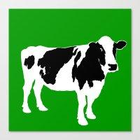 Farm Cow Art Canvas Print