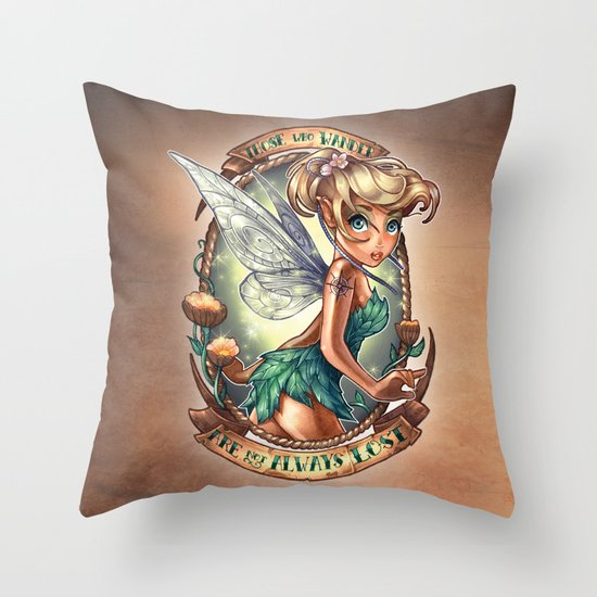 Those Who Wander Are Not Always Lost Throw Pillow